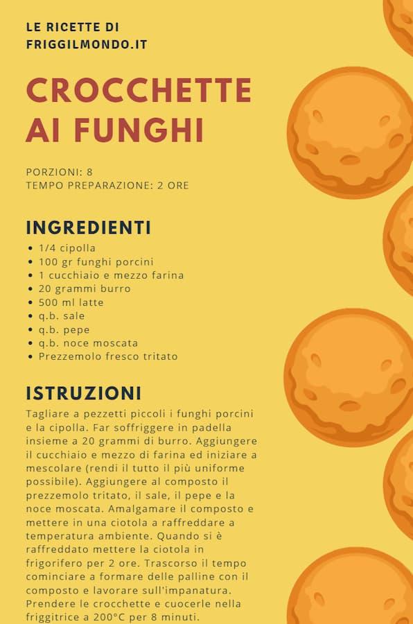 Friggilmondo crocchette ai funghi ricetta
